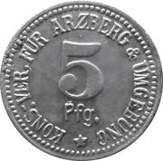 5 pfennig (Arzberg - Konsum-Verein) – revers