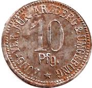 10 pfennig (Arzberg - Konsum-Verein) – revers