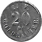 20 pfennig (Goldlauter - Consumverein) – avers
