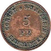 5 pfennig (Reutlingen - Consum & Sparverein) – avers