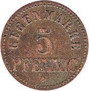 5 pfennig (Reutlingen - Consum & Sparverein) – revers
