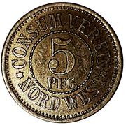 5 pfennig (Berlin - Consum Verein Nord West) – revers