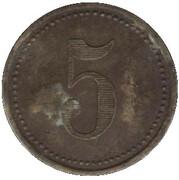 5 pfennig (Schwäbisch Gmünd - Consumverein) – revers