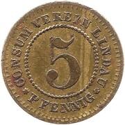 5 pfennig (Lindau - Consum Verein) – avers