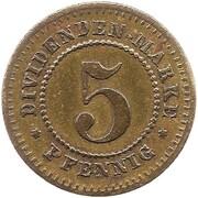 5 pfennig (Lindau - Consum Verein) – revers