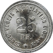 25 Pfennig (Berlin Consumverein Association E.G.M.B.H.) – avers