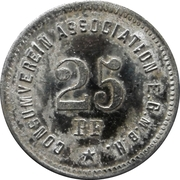 25 Pfennig (Berlin Consumverein Association E.G.M.B.H.) – revers