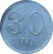 30 pfennig - Baden-Baden (Krieg's Consum Baden-Baden) – revers