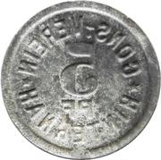 5 Pfennig - Cons.-Verein (Hinternah) – revers