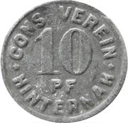 10 Pfennig - Cons.-Verein (Hinternah) – avers
