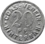 20 Pfennig - Cons.-Verein (Hinternah) – avers