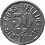 50 Pfennig - Cons.-Verein (Hinternah) – avers
