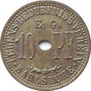 10 pfennig - Lebens-Bedürfniss-Verein E.G. (Karlsruhe) – avers