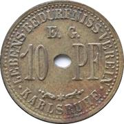 10 pfennig - Lebens-Bedürfniss-Verein E.G. (Karlsruhe) – revers