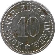 10 pfennig - Kons.-Ver. Küps & Umgeg. (Küps) – avers