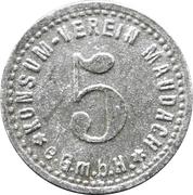 5 pfennig - Konsum Verein (Maudach) – avers