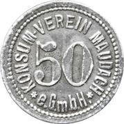 50 pfennig - Konsum Verein (Maudach) – avers
