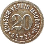 20 pfennig - Konsum Verein (Maudach) – avers