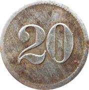 20 pfennig - Konsum Verein (Maudach) – revers