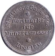 Gas Token - Wertmarke  für Münzgasmesser (Breslau) – avers