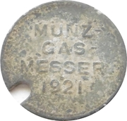 Gas münze - Stadt Gasanstalt (Otterndorf) – revers