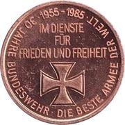 Token - 30 years of Bundeswehr (Hubschrauber mit Lenkwaffen Panzerabwehr) – revers
