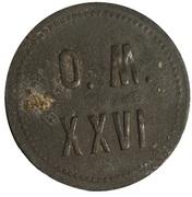 50 pfennig 26è régiment d'infanterie de Magdeburg - émissions militaires – avers