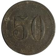 50 pfennig 26è régiment d'infanterie de Magdeburg - émissions militaires – revers