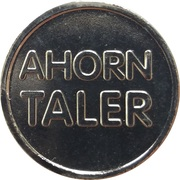 Ahorn Taler - Ahorn Apotheke (Moers-Kapellen) -  revers