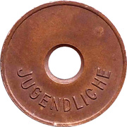 Public swimming pool token - Idstein (youth) -  revers