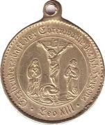 Medaille der Erzbruderschaft des heiligen Herzens – revers