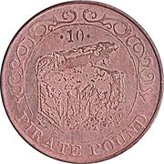 10 Pirate Pound Simba (Coffre au trésor) – avers