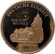 Token - 30 years United Germany (Leipzig - Nikolaikirche) – avers