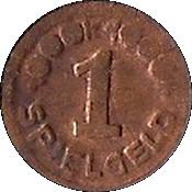 1 Pfennig (Spielgeld) -  revers