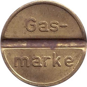 Token - Gas-marke – avers