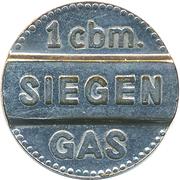 1 cbm. Gas - Siegen – avers