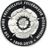 Rosenheim, 150 Jahre Freiw. Feuerwehr – avers