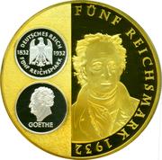 Medal - 5 Reichsmark (Goethe) – revers