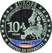 Medal - Europe Economic and Monetary Union 10 years (Germany) – revers