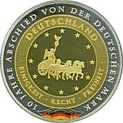 Medal / 10 Years since Deutsche Mark – avers