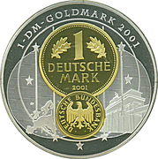 Medal / 10 Years since Deutsche Mark – revers