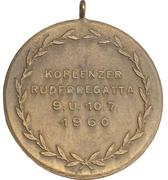 Award medal - Koblenz rowing regatta – revers
