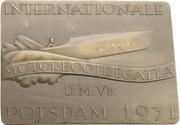 Prize plaquette - International motorboat regatta – avers