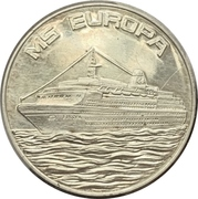 Medal - Launch of the cruise liner MS Europa – avers