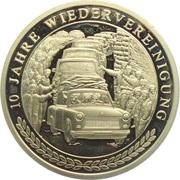 Médaille - 10 Jahre Wiedervereinigung (Trabbis) – avers