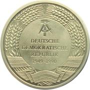 Médaille - 10 Jahre Wiedervereinigung (Trabbis) – revers