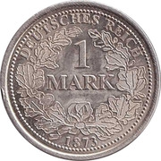 Jeton - 1 Mark 1873 – revers