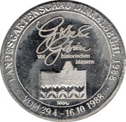 Landesgartenschau Dinkelsbühl 1988 – avers