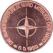40 Jahre Bundesrepublik Deutschland (NATO) – avers