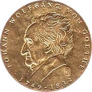 Jeton Johann Wolfgang von Goethe – avers